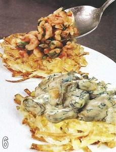 Креветки и мидии на картофеле «Пай» 6