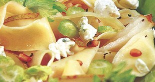 Паста с грушами и сыром