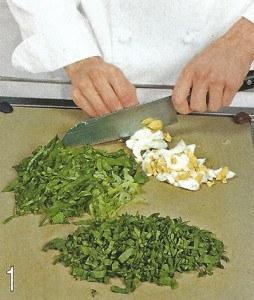 Зеленый салат с беконом 1