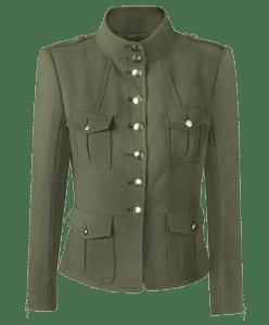 Маленькое пальто-пиджак в стиле милитари