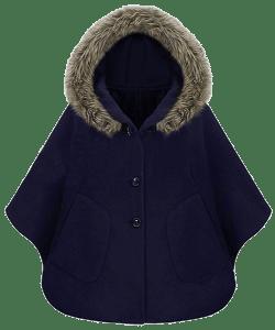 Пальто-накидка с капюшоном