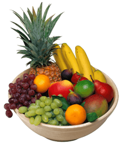 Бананы, виноград, ананас, груша, манго, мандарин