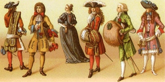 Миниатюра с мужчинами и женщинами 16 век