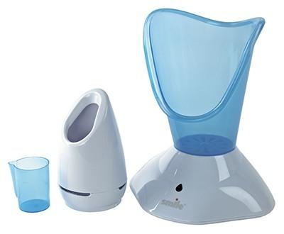 Это прибор, производящий пар и состоящих из подогреваемого резервуара и удобного конуса для лица