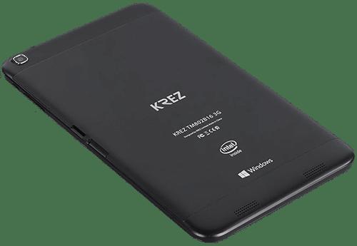 KREZ Tap'n'Go - Задняя панель гаджета выполнена из окрашенного в черный цвет и шероховатого на ощупь алюминия