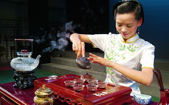 Китайский чай в ресторане