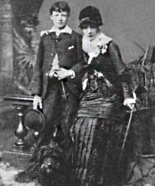 Сара Бернар и сын Марсель