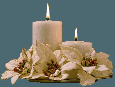 Белые декоративные свечи