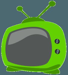 Зеленый телевизор