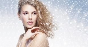 Девушка волосы снежинки