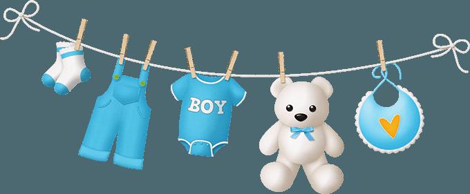 Одежда для мальчика на веревке с прищепками