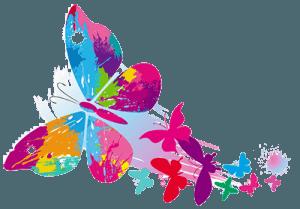 Нарисованные бабочки