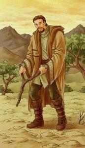 Лозоходец древний - рисунок