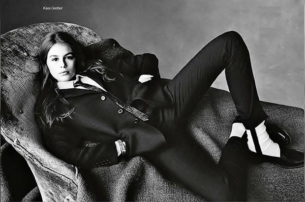 Кайя Гербер впервые появилась в Vogue