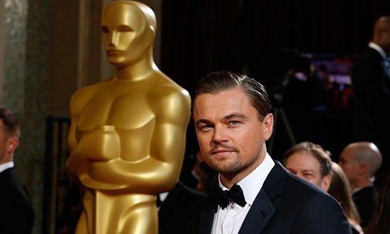 Леонардо ДиКаприо на церемонии вручения «Оскара»