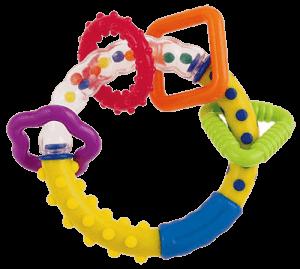 Погремушка-кольцо, за которую удобно ухватиться