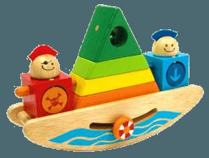 Пирамидка «Пиратский корабль» для малышей