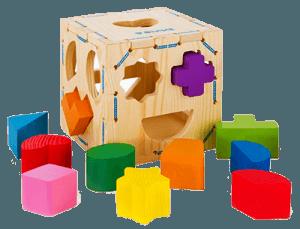 Сортер - ящик с прорезями для малышей