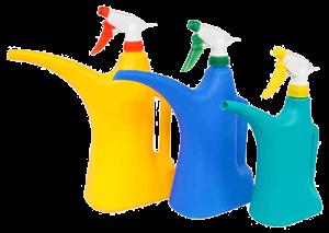Пульверизатор-лейка разных цветов три штуки