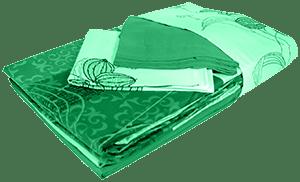 Постельное белье зеленое