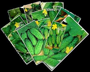 Семена огурцов в упаковке