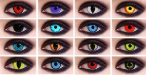 Разные контактные линзы