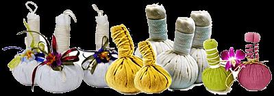 Травянные мешочки для массажа