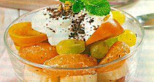 Десерт из хурмы в креманке
