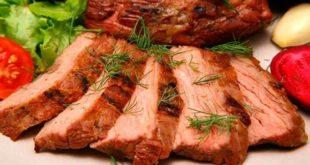 Аппетитно порезанное мясо