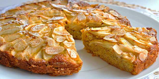 Магрибский пирог с грушами и миндалем
