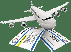Самолет и билет
