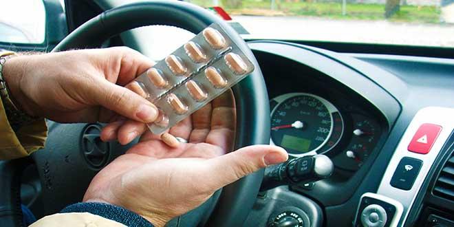 Таблетки за рулем автомобиля