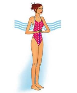 Аквааэробика - упражнение 9