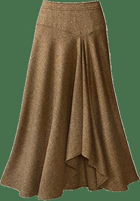 Хорошо смотрятся на полных фигурах юбки годе