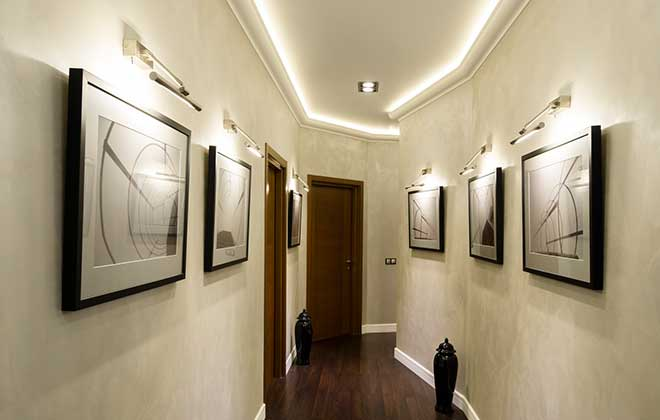 Темный пол в коридоре