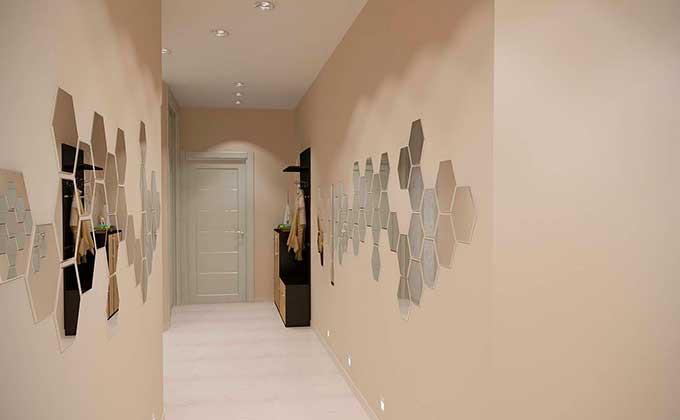 Виниловые наклейки для стен коридора