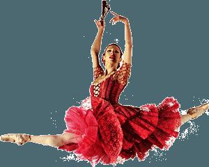 Балерина в красной пачке