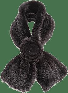 Длинный меховой воротник-шарф