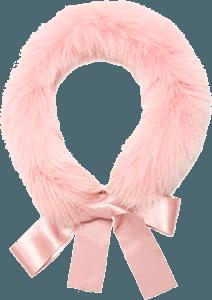 Розовый воротник средней длины на завязках