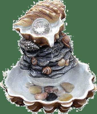 Комнатный фонтан из морских раковин