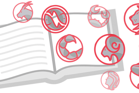 Знаки зодиака в открытой книге