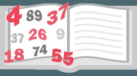 Числа в книге