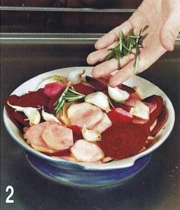 Гарнир из картофеля и свеклы 2