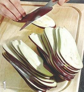 Конвертики из баклажанов с сыром 1