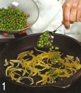 Паста с зеленым горошком и ветчиной 1
