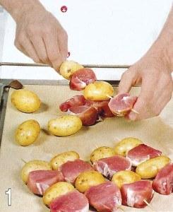 Шашлычки из свинины и картофеля 1