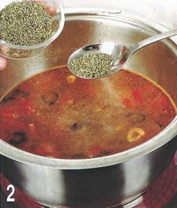Суп чесночный с гренками 2