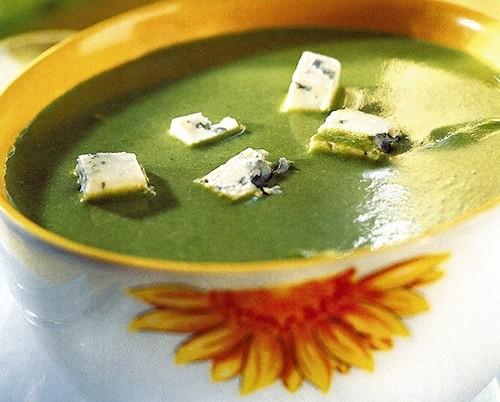 Суп из щавеля с сыром