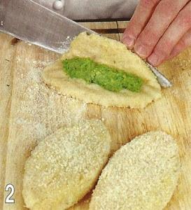 Зразы из рыбы с зеленым горошком 2