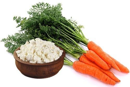 Творог и морковь